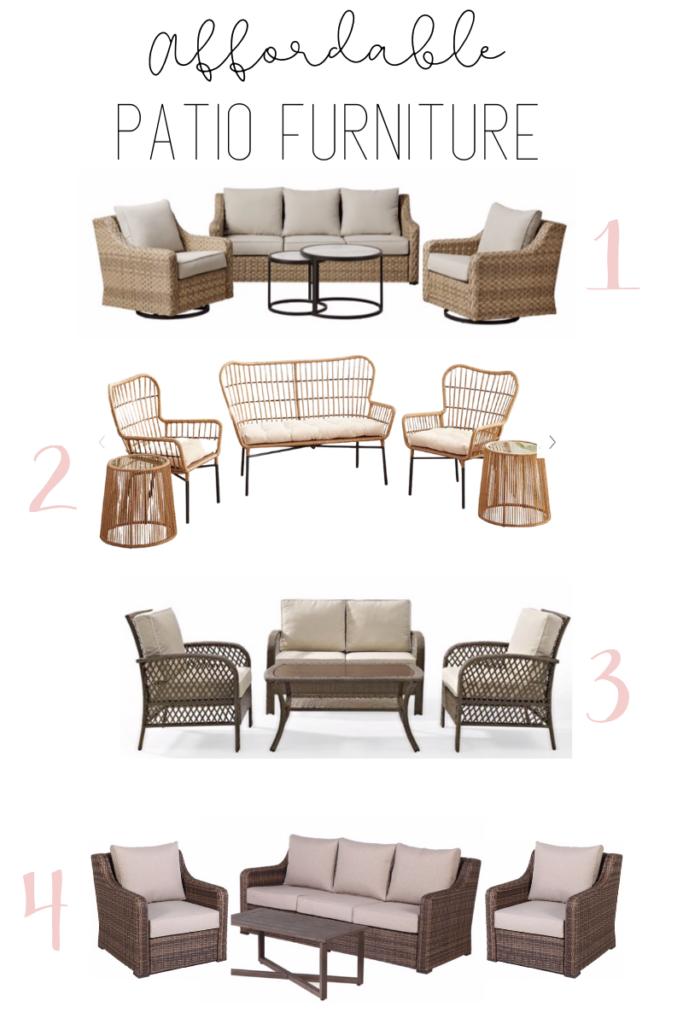 Affordable Patio Furniture Remington, Farmhouse Patio Furniture
