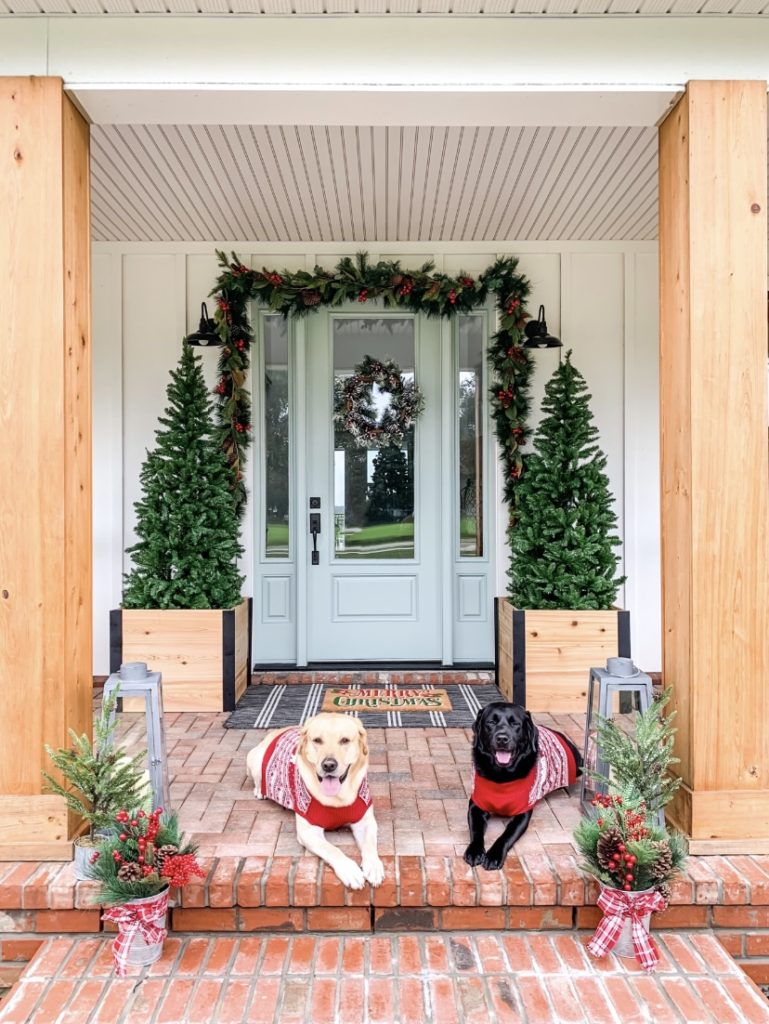 Holiday Front Porch Styling With Christmas Tree Shops Remington Ranch Farmhouse